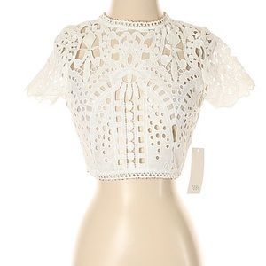 Tobi lace crop top